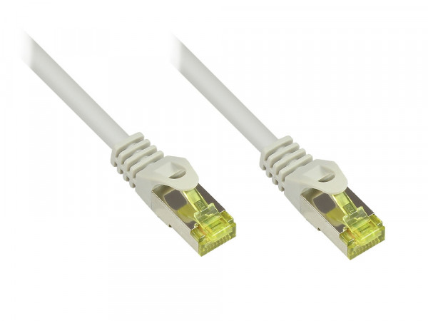 Patchkabel 1,0m mit Cat7 Rohkabel RJ45 S/FTP PIMF grau